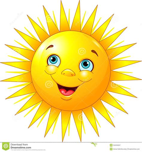 le clipart le soleil de sourire illustration de vecteur illustration