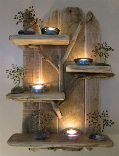 composizione con candele composizioni di pallet con candele ecco 17 idee