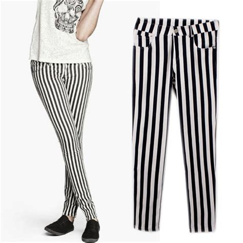 black and white patterned jeans mm h m 2014 new stylish modern black and white vertical