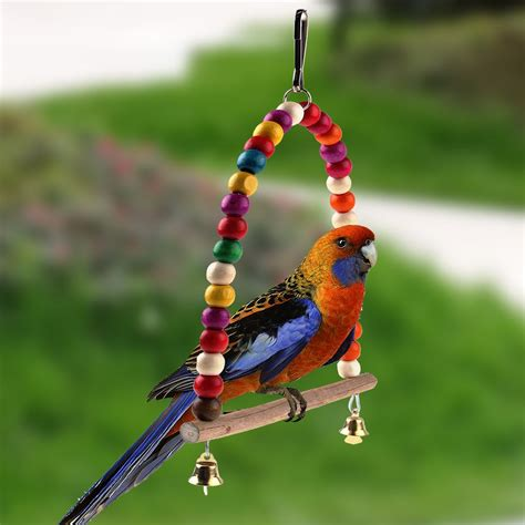budgie swing colorful bird toy parrot swing cage toys for parakeet