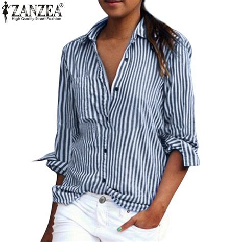 Casual Top Stripe Bunny Sgin Size S M L Gaul Populer 43006 plus size xs 5xl 2017 zanzea blouses sleeve lapel striped shirt fashion casual