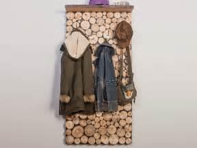 garderobe bauen garderobe in holzstapeloptik selber bauen
