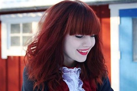 indoor and outdoor lighting vibrant hair joico ruby hair with bangs hair with a for reds bangs