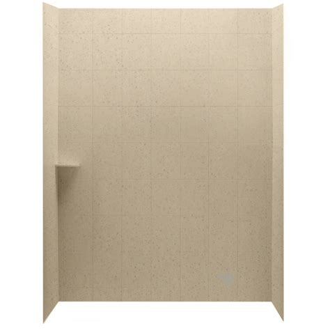 lowes bathroom wall panels shop american standard ciencia 30 in w x 60 in d x 72 in h