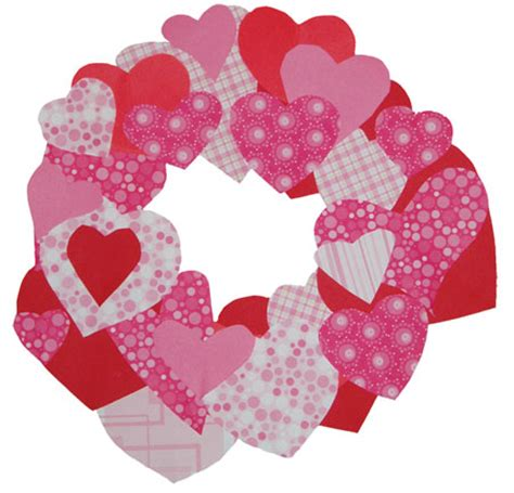 Paper Valentines Crafts - easy craft paper wreath