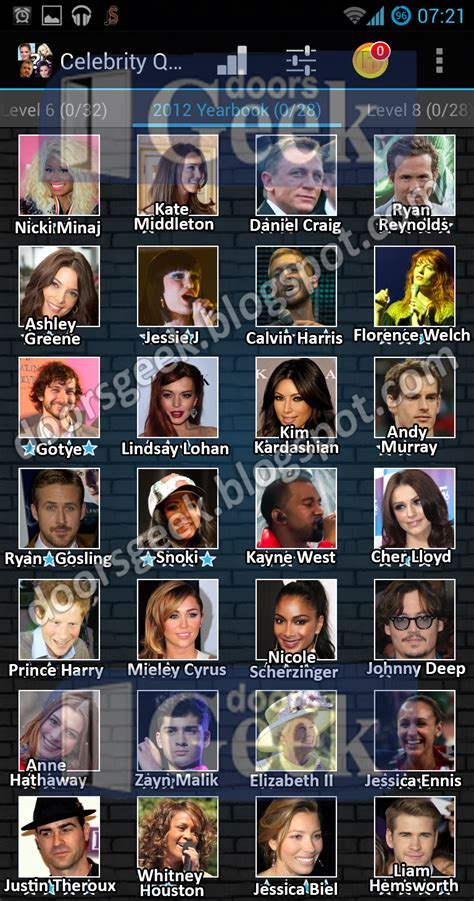 celebrity games and quizzes celebrity quiz level 7 2012 yearbook images frompo