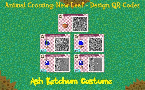 deviantart more like animal crossing new leaf qr anna from animal crossing new leaf qr code ash ketchum by