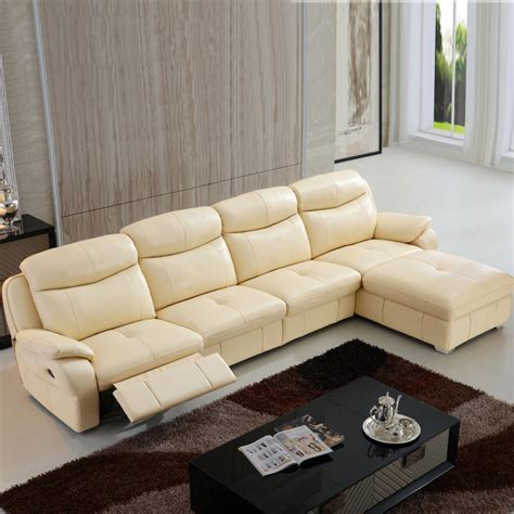 beige sectional sofa with chaise beige manual recliner sectional sofa in leather with right