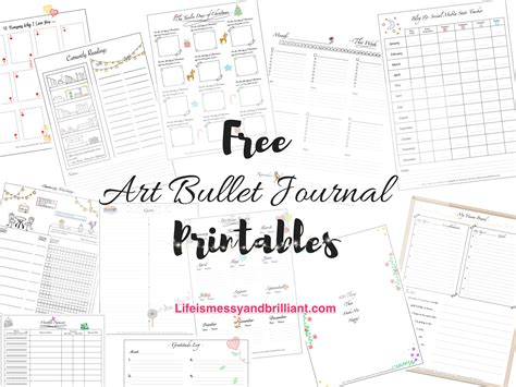 Free Art Lettering And School Printables Free Bullet Journal Templates