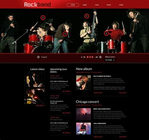 Music Band Website Templates That Will Rock You Best Website Templates For Musicians