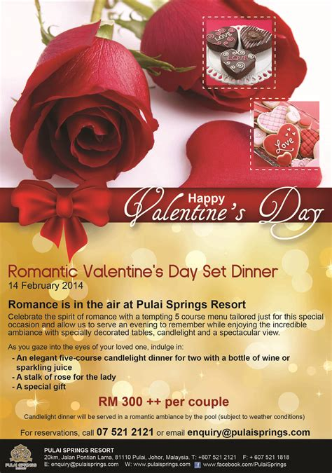 valentines dinner and hotel valentine s packages and deals pulai travel pulai
