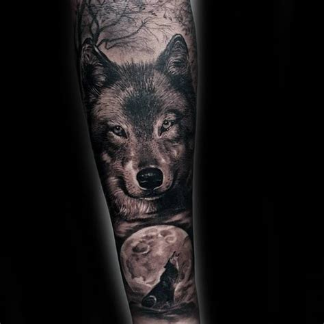 wolf forearm tattoo 40 wolf forearm designs for masculine ink ideas