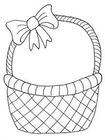 sketch of basket paper crafts for children 187