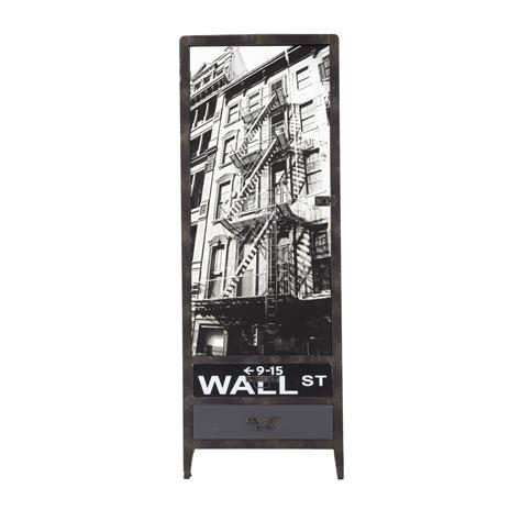 kleiderschrank aus holz in metalloptik b 65 cm schwarz