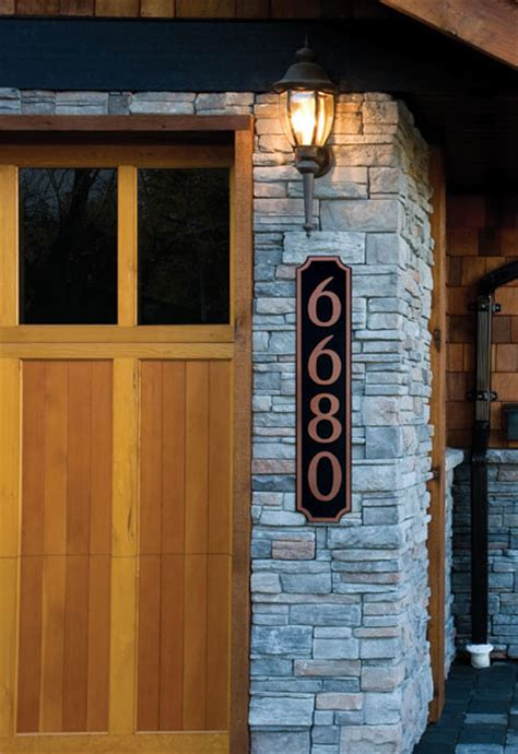 vertical house number signs personalized vertical house number sign