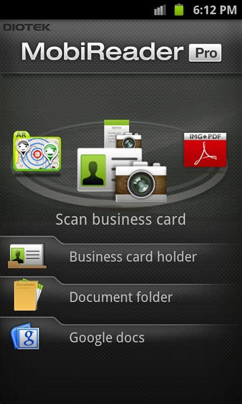 best reader app best business card reader app for android mobireader pro