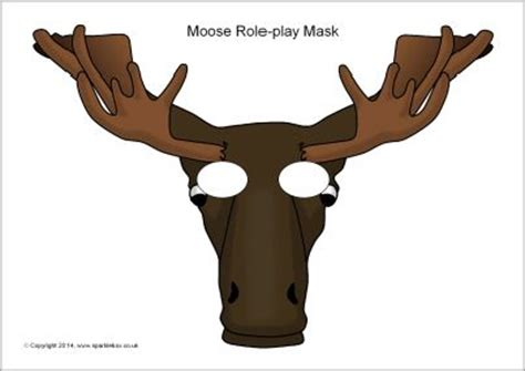 printable moose mask 40 best images about maskers on pinterest mask for kids