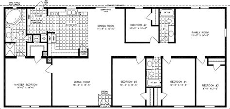 2000 fleetwood mobile home floor plans floorplans for manufactured homes 2000 square feet up