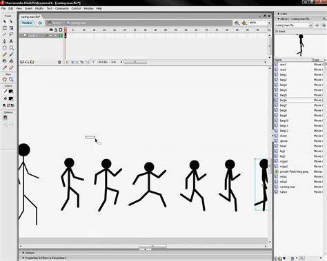 tutorial in flash macromedia flash 8 tutorial running man stickman youtube
