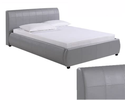 grey leather bed grey leather bed 28 images john lewis owen king size