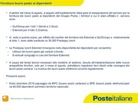 poste italiane spa sede legale fornitura buoni pasto