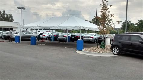 coralville used car superstore tent for the grand re opening at coralville used car
