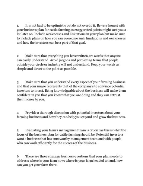 cattle ranch business plan template templates resume