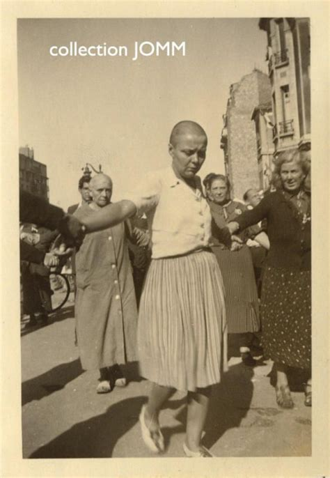 french female nazi collaborators with shaved heads marched pinterest the world s catalog of ideas