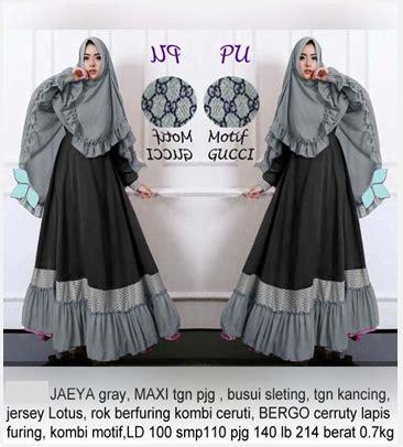 Baju Muslim Gamis Katun Buble Crepe Hai Hai Gm 20 busana rumah islami