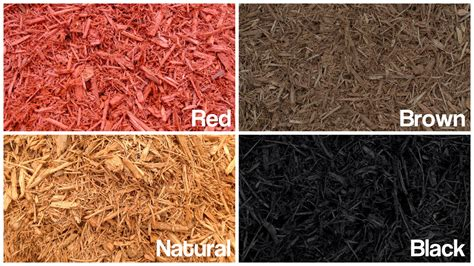 different colors of different colors of mulch cleancutlawn