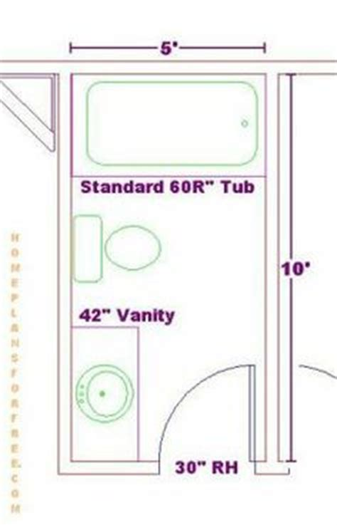 bathroom floor plans 5 x 10 5x9 or 5x8 bathroom plans 3 4 bathroom layouts