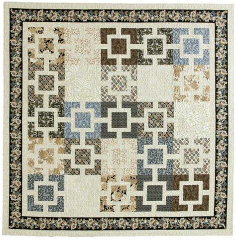Free Modern Quilt Patterns by Fujita Maze Sophisticated Modern Bed Quilt Pattern