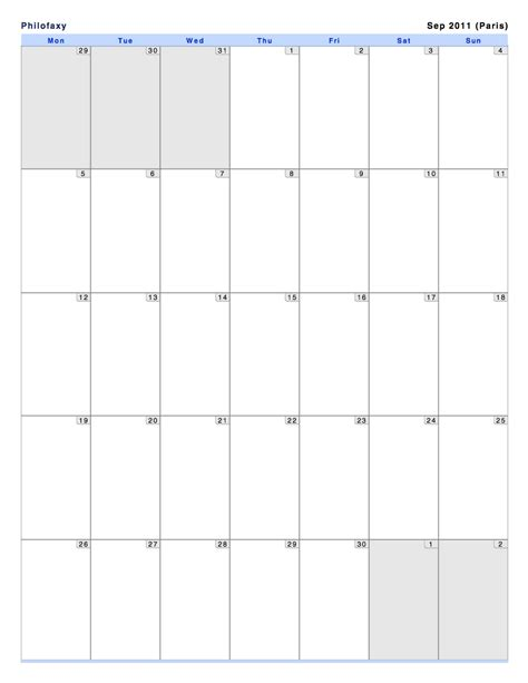 printable monthly calendar grid 2016 calendar monthly horizontal grid calendar template 2016