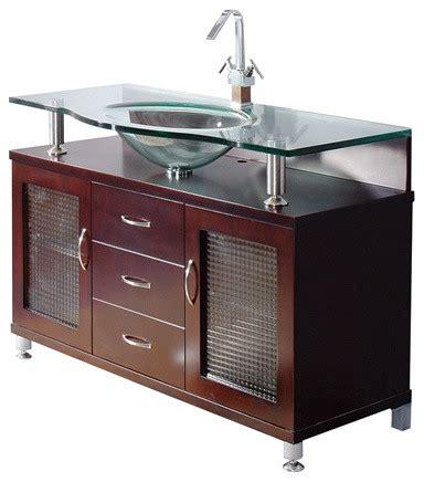 Mahogany Bathroom Furniture Mahogany Bathroom Vanities And Glass Sink Cologne Collection 48 Quot Modern Bathroom Vanity