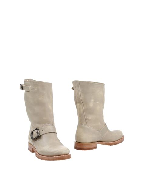 frye ankle boots frye ankle boots in beige light grey lyst