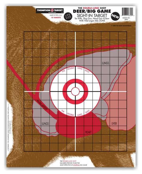 printable paper deer targets life size deer vitals paper gun bow hunting shooting