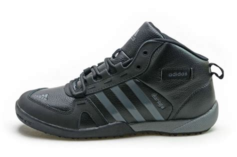 buy adidas winter warm high top outdoor hiking shoes black grey rd23765 cheap shoes
