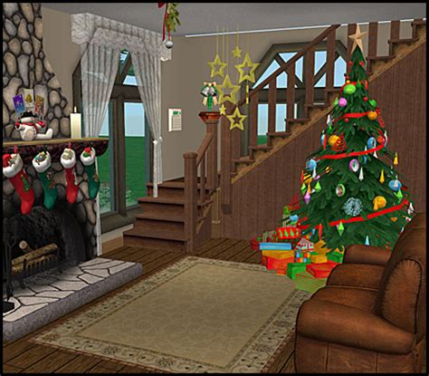 christmas decorations on sims 3 mod the sims cabin
