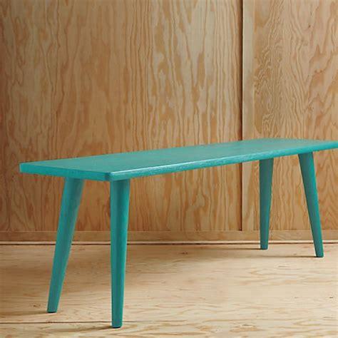 cb2 bench baja aqua bench in dining chairs barstools cb2 hburg