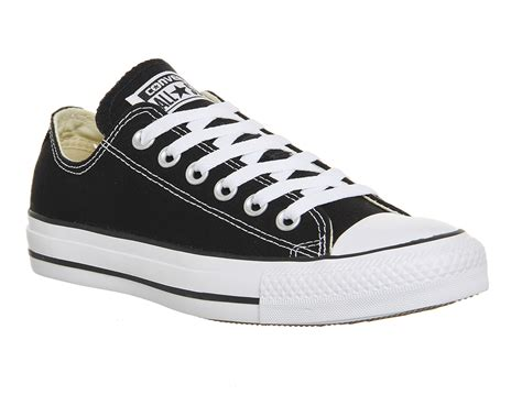 Converse Sport Black converse all low black canvas unisex sports