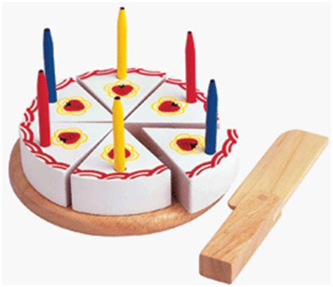 Kitchen Knives Review Uk wooden toy birthday cake with candles and cake knife