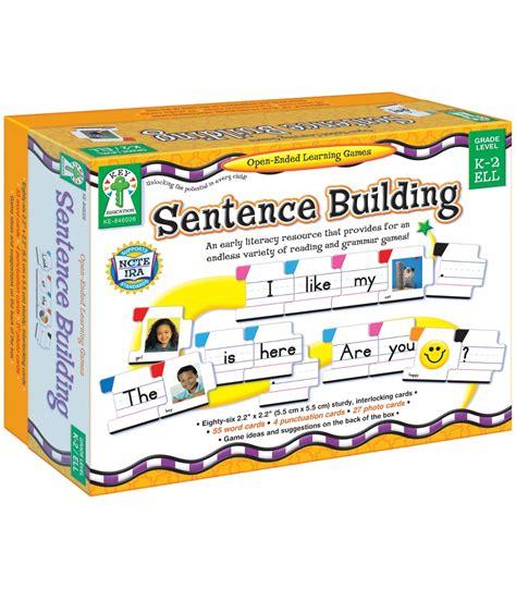 sentence patterns classroom games sentence building board game grade k 2 carson dellosa