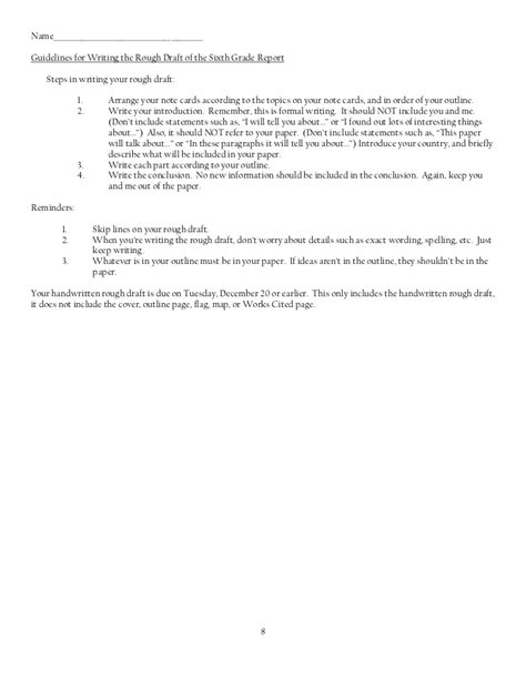 sle 6th grade research paper research paper outline 6th grade