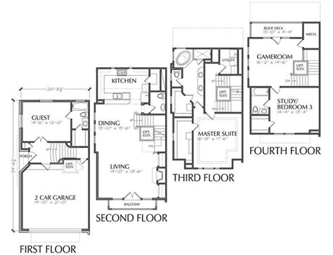 Urban Loft Floor Plan | luxury townhouse floor plans urban loft townhomes