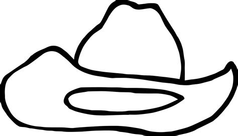 western hat coloring page cowboy hat coloring page wecoloringpage