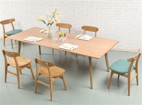 scandinavian dining table magnus dining table 240cm solid american oak