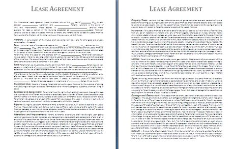 Lease Agreement Template By Formsword Divorce Terms And Conditions Template