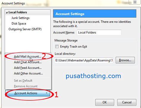 thunderbird email for android cara membuat email login webmail menghubungkan dengan thunderbird dan android pusathosting