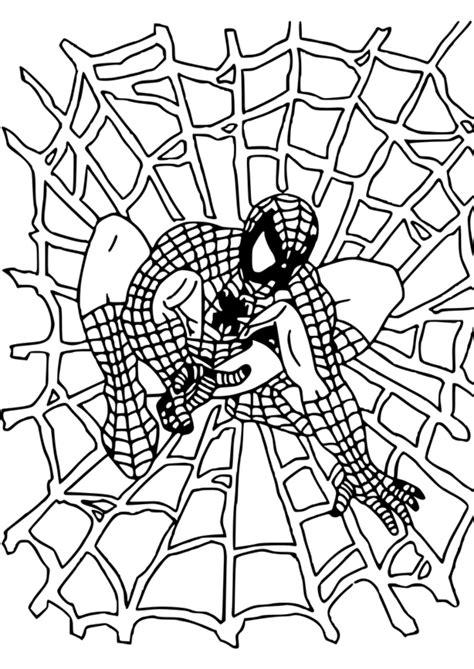 124 dessins de coloriage Spiderman à imprimer