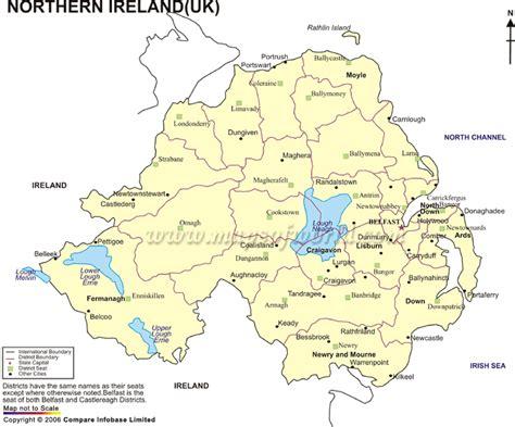 northern ireland map counties